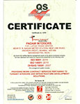 ISO 9001:12001, OHSAS 18001